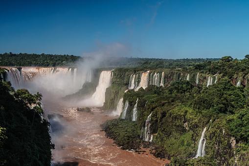 海外旅行「View of the Garganta del Diablo (Devil's Throat), Iguazu Falls (UNESCO World Heritage Site) from Brazilian side, Iguazu, Brazil」:スマホ壁紙(3)
