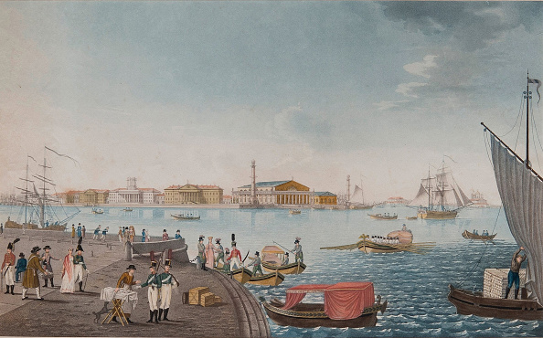 Water's Edge「View of the Neva River and the Stock exchange in Saint Petersburg, Early 1800s」:写真・画像(6)[壁紙.com]