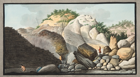 Hand Colored「View Of The Hot Spring」:写真・画像(13)[壁紙.com]