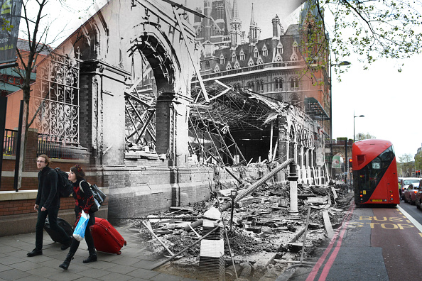 Composite Image「Scenes From The London Blitz - Now and Then」:写真・画像(17)[壁紙.com]