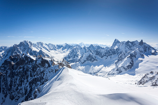 Mountain Peak「View of the Alps from Aiguille du midi, Chamonix, France」:スマホ壁紙(13)