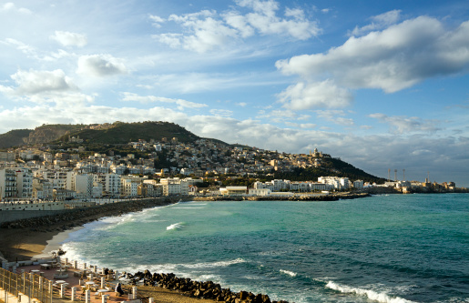 North Africa「View of the coast across the bay of Algiers」:スマホ壁紙(10)
