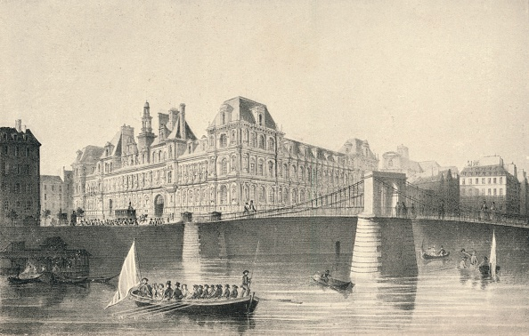 Physical Geography「'View of the Hotel de Ville and the Pont d'Arcole', 1915. Artist: JB Arnout.」:写真・画像(19)[壁紙.com]