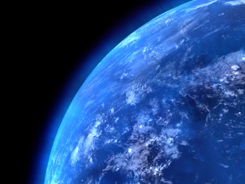 Planet Earth「View of the earths oceans from space」:スマホ壁紙(19)