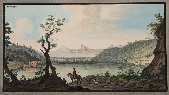 Hand Colored「View Of The Lake Avernus From The Road Between Puzzoli And Cuma」:写真・画像(19)[壁紙.com]