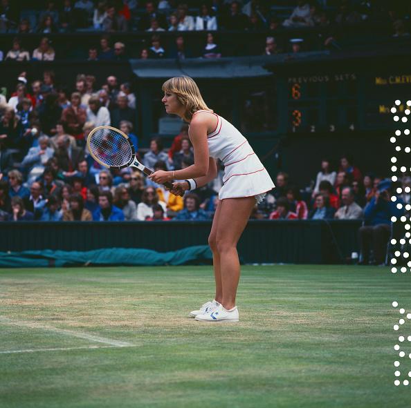 Chris Evert「Evert Versus King At Wimbledon」:写真・画像(6)[壁紙.com]