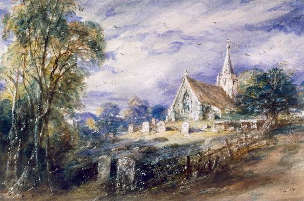 Non-Urban Scene「Stoke Poges Church' Buckinghamshire 1833」:写真・画像(15)[壁紙.com]