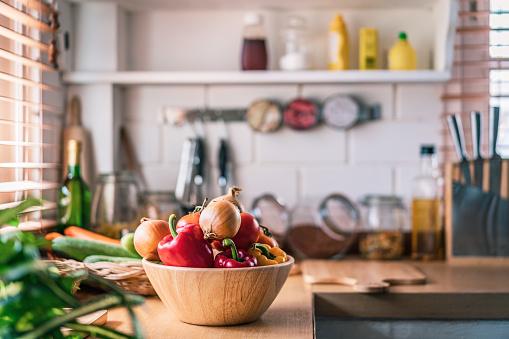 Vegetable「Kitchen in real home」:スマホ壁紙(6)