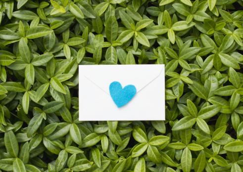 ハート「Love letter on leaves」:スマホ壁紙(9)