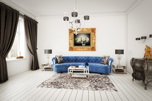 Desk Lamp「Stylish Living Room」:スマホ壁紙(1)