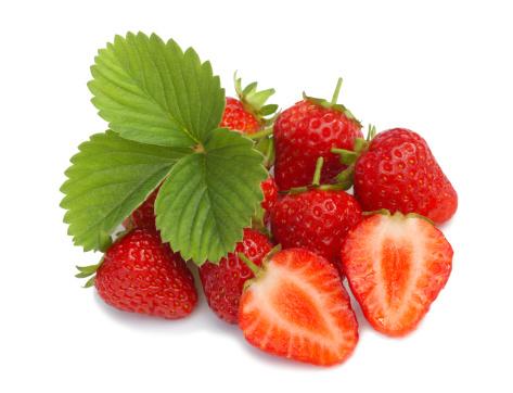 Temptation「Tempting, ripe strawberries and leaf.」:スマホ壁紙(17)