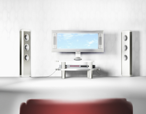 Focus On Background「Flat screen television system with speakers」:スマホ壁紙(7)