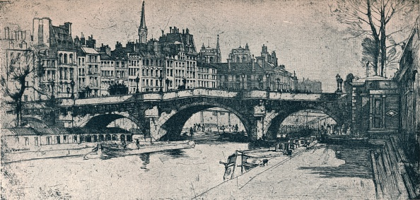 Capital Cities「Pont Neuf: Plate One From The Paris Set', 1904.」:写真・画像(16)[壁紙.com]