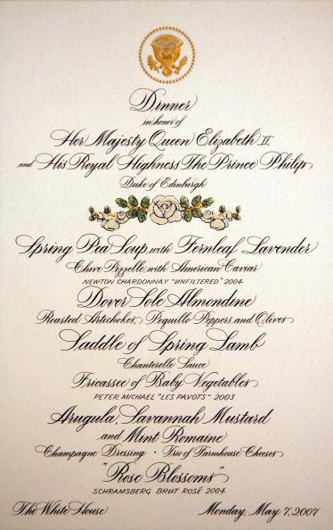 Menu「Laura Bush Previews State Dinner Preparations For Queen Elizabeth II」:写真・画像(6)[壁紙.com]