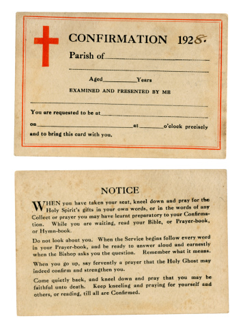 Teenager「British confirmation card, 1928」:スマホ壁紙(12)