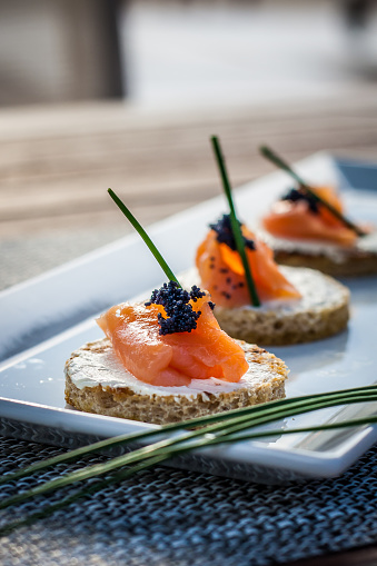 Canape「Canapes with smoked salmon and cream cheese」:スマホ壁紙(0)