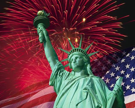 花火「The Statue of Liberty」:スマホ壁紙(9)
