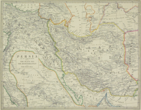 Iranian Culture「Map of Middle East」:スマホ壁紙(11)