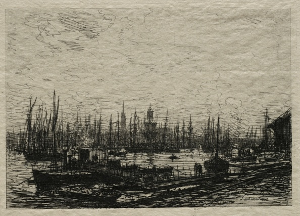Gironde「The Harbor Of Bordeaux. Creator: Maxime Lalanne (French」:写真・画像(6)[壁紙.com]