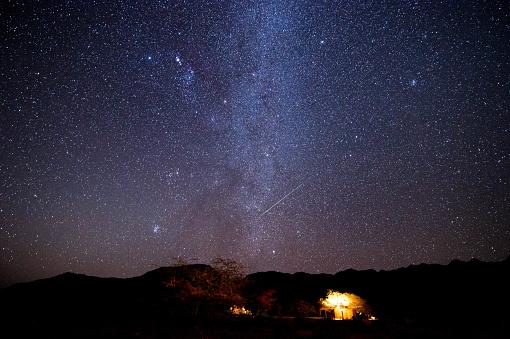Starry sky「Campsite and stars」:スマホ壁紙(15)