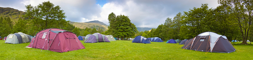 Dome Tent「Campsite and tents」:スマホ壁紙(12)