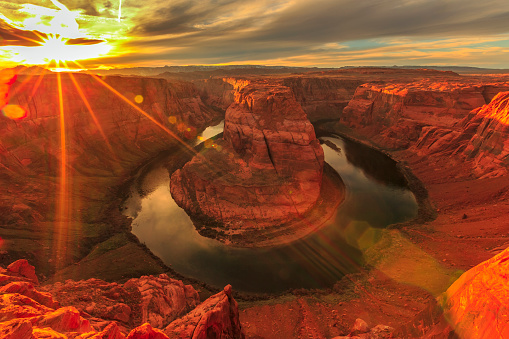 National Park「Horseshoe Bend at Sunset」:スマホ壁紙(10)