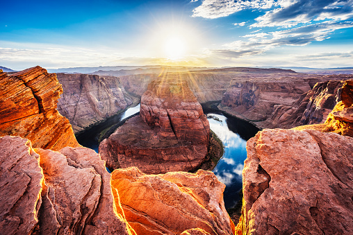 Southwest USA「Horseshoe Bend At Sunset - Colorado River, Arizona」:スマホ壁紙(3)