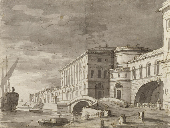 Neva River「The Hermitage Theatre In Saint Petersburg (Curtain Design) After 1802」:写真・画像(9)[壁紙.com]