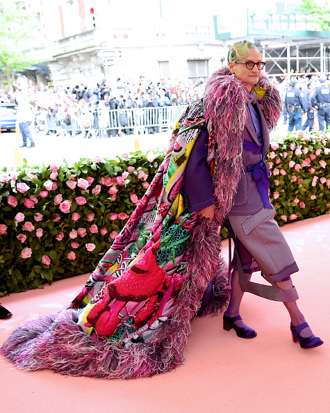 Multi Colored Coat「The 2019 Met Gala Celebrating Camp: Notes on Fashion - Arrivals」:写真・画像(4)[壁紙.com]