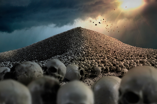 インフルエンザ菌「Skull Mountain」:スマホ壁紙(13)