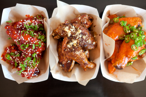 Chicken Wing「Trio of spicy bbq chicken wings」:スマホ壁紙(2)