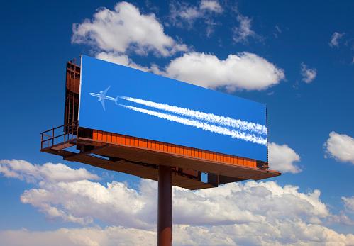 Marketing「Photograph of airplane on billboard.」:スマホ壁紙(17)
