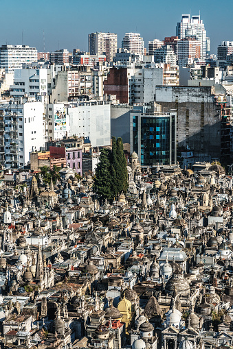 Vertical「La Recoleta Cemetery, considered one of the most beautiful in the world, lies right in the heart of the city, Buenos Aires, Argentina」:スマホ壁紙(8)
