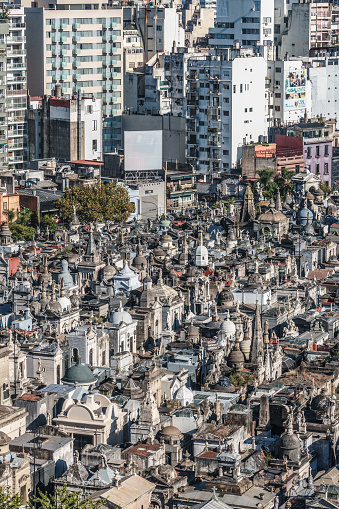Vertical「La Recoleta Cemetery, considered one of the most beautiful in the world, lies right in the heart of the city, Buenos Aires, Argentina」:スマホ壁紙(9)