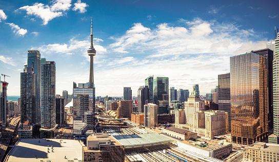Ontario - Canada「Downtown Toronto skyline panorama」:スマホ壁紙(2)