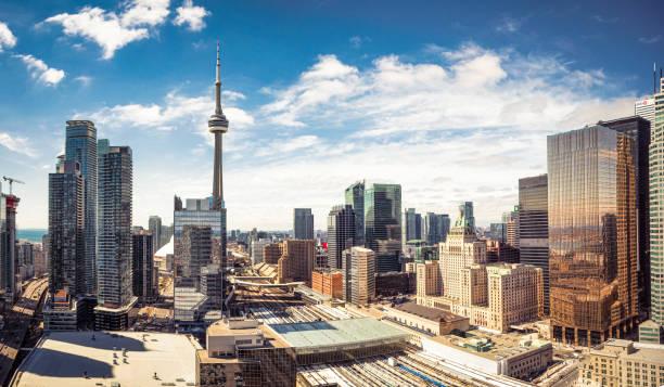 Downtown Toronto skyline panorama:スマホ壁紙(壁紙.com)