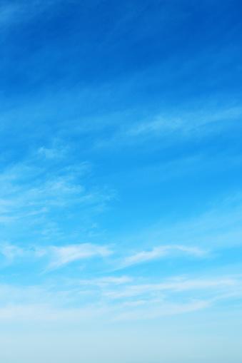 Vertical「blue sky with clouds」:スマホ壁紙(6)
