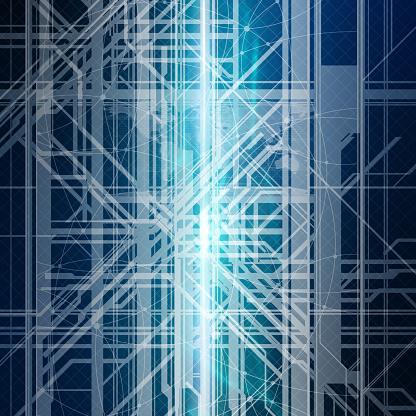 Quantum Computing「Information highway. processing. Conceptual artwork.」:スマホ壁紙(8)