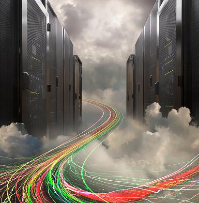 Data「Information Superhighway, Servers And Light Trails」:スマホ壁紙(12)