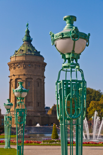 Mannheim「Water tower in Mannheim, Germany」:スマホ壁紙(12)