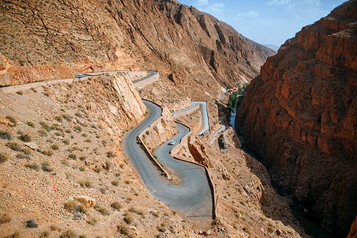 Steep「Morocco, Ouarzazate, road in the gorge of Dades」:スマホ壁紙(8)