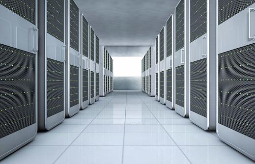 Security System「Computer Network server, Digital illustration」:スマホ壁紙(2)