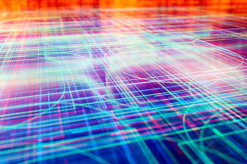 Cloud Computing「Computer network abstract image」:スマホ壁紙(15)