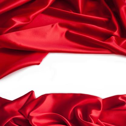 バレンタイン「レッドのシルク、コピースペース付き」:スマホ壁紙(3)