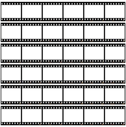 Black Border「Slide film contact sheet on white」:スマホ壁紙(12)