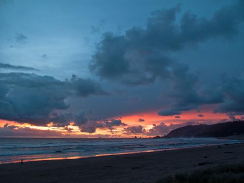 Cannon Beach「Beach at sunset」:スマホ壁紙(1)