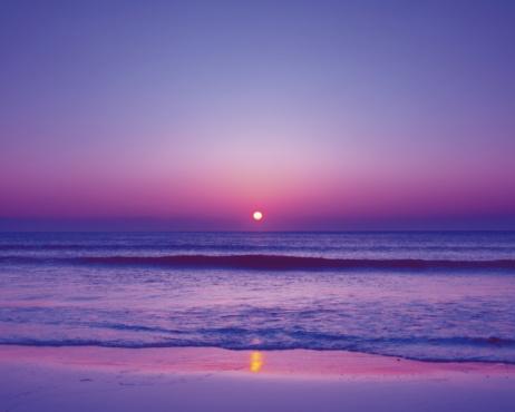 Sunset sea「Beach at sunset with beautiful purple sky. Shizuoka Prefecture,  Japan」:スマホ壁紙(15)