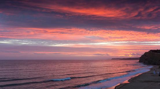 自然地理学「Beach at sunset, Lagos, Faro, Portugal」:スマホ壁紙(10)
