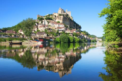 Nouvelle-Aquitaine「Castle and river Dordogne」:スマホ壁紙(11)