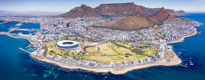 South Africa「Iconic Cape Town Panorama Aerial View South Africa」:スマホ壁紙(2)